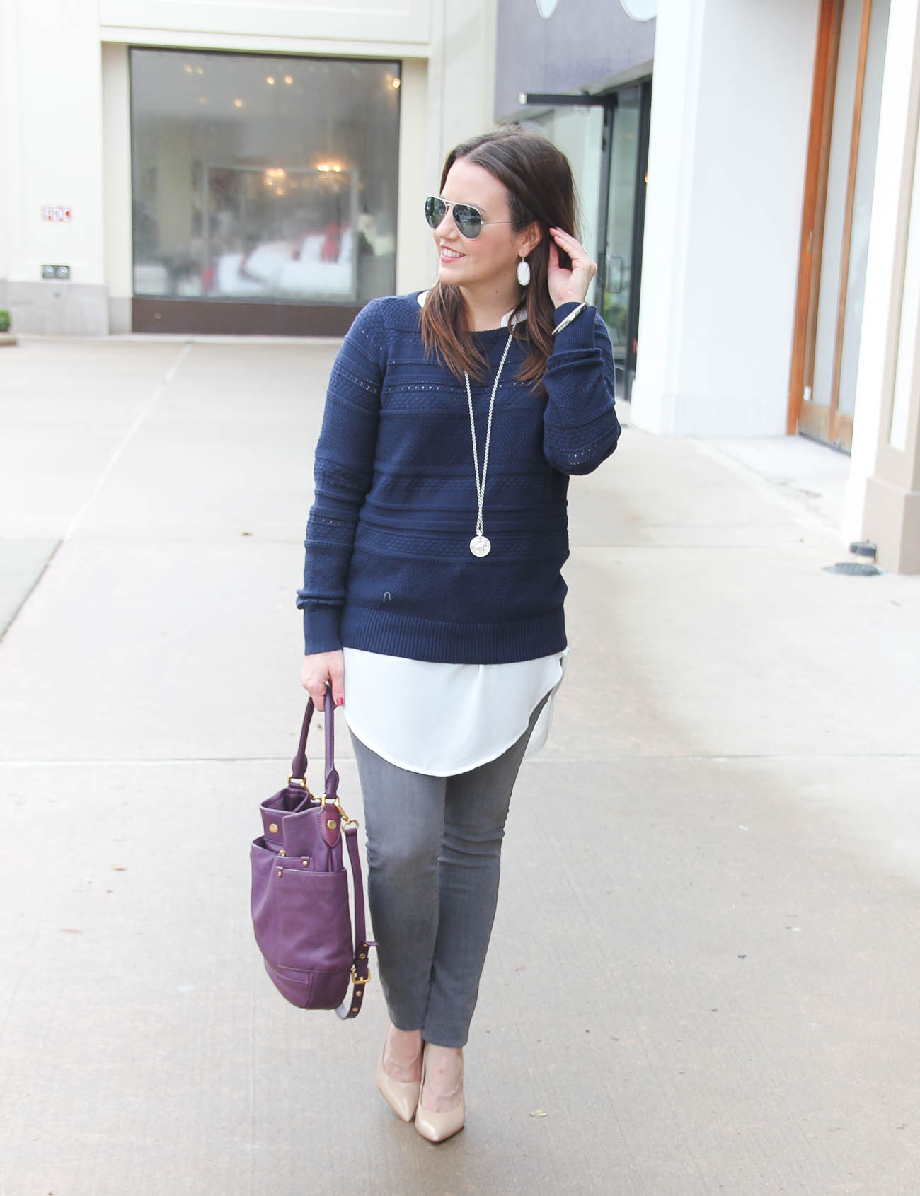 Gray Tunic Sweater