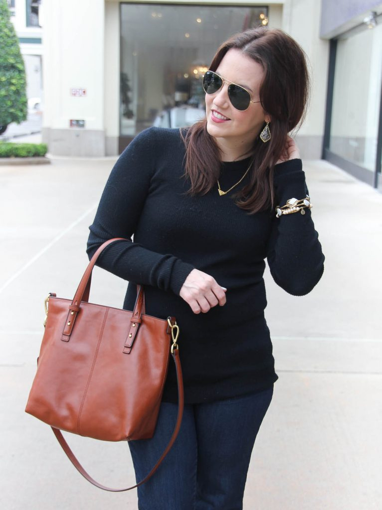Houston Fashion Blogger styles a casual Friday outfit for the winter season.