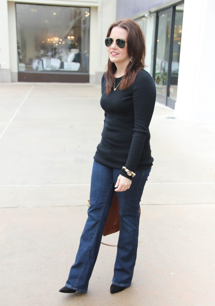 Lady in Violet, a Houston Fashion Blogger styles a casual weekend outfit for date night with jeans.
