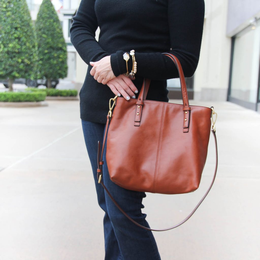 Houston Fashion Blogger shared what to wear with a fitted black sweater for casual Friday at work.