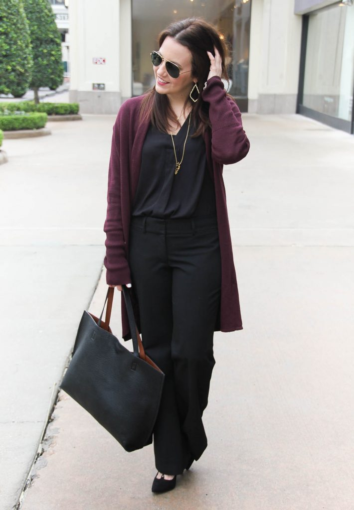 Houston Fashion Blogger styles a cozy and chic office outfit to wear in winter months.