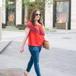 Spring Trends: Red One Shoulder Top