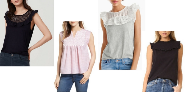 Cute spring tops with a bib design
