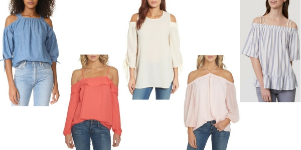 cute cold shoulder tops for spring
