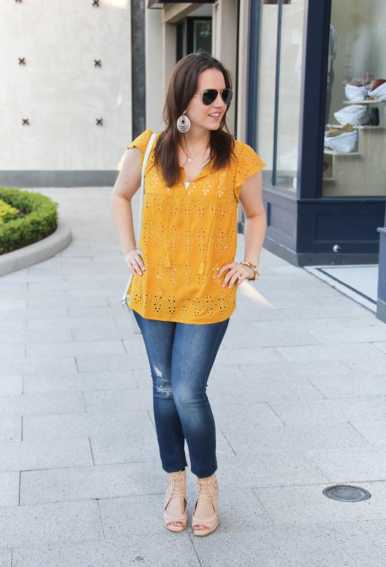 Weekend Casual Outfit In Yellow Lady In Violetlady In Violet