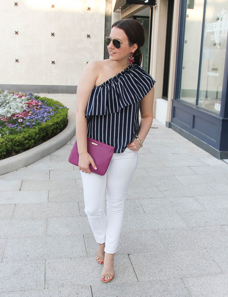 Houston fashion blogger styles dressed up casual outfits for spring.