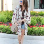 Floral Kimono + Distressed Shorts under $40