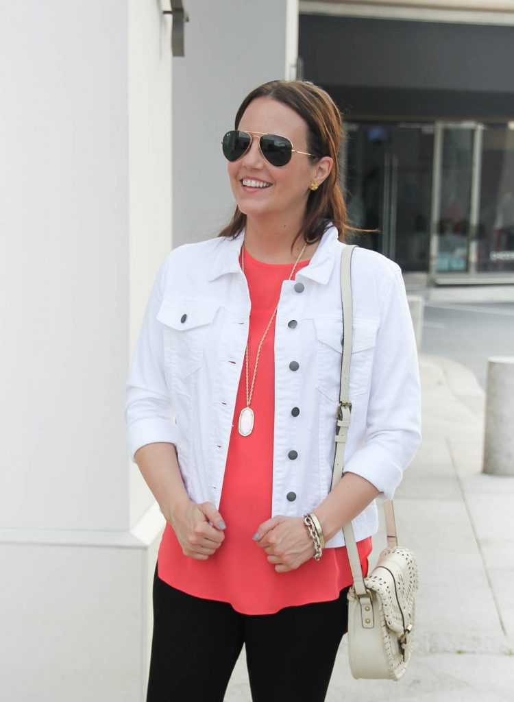 What to Wear with a White Denim Jacket for Summer | Lady in Violet | Houston Style Blogger