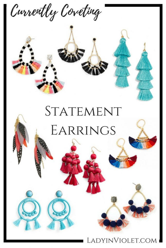 Statement Earrings | Spring Jewelry | Colorful Earrings | Summer Jewelry | Lady in Violet | Houston Style Blogger