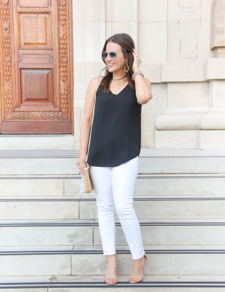 Summer Outfit | White Jeans | Black Cami | Lady in Violet | Houston Fashion Blogger