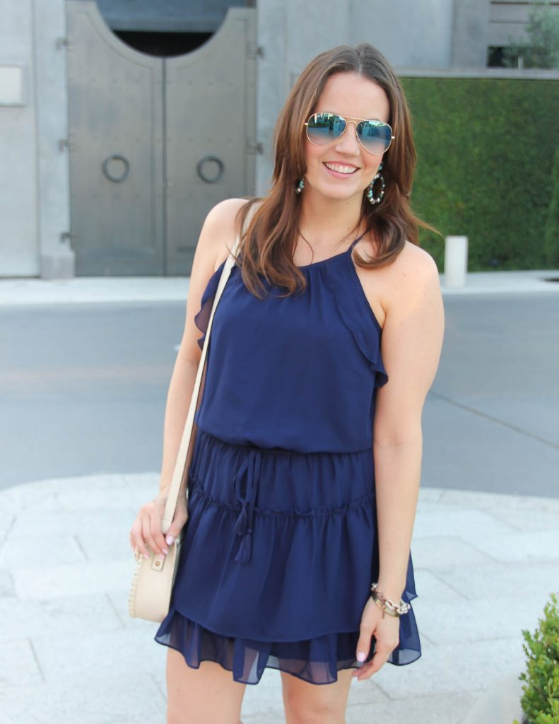 What to wear for 4th of July | Navy Dress | Lady in Violet | Houston Style Blogger