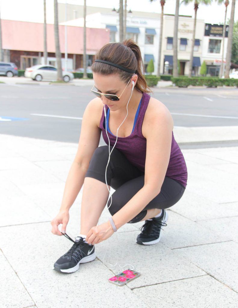 Fitbit Flex 2 Review | Workout Outfit | Lady in Violet | Houston Blogger