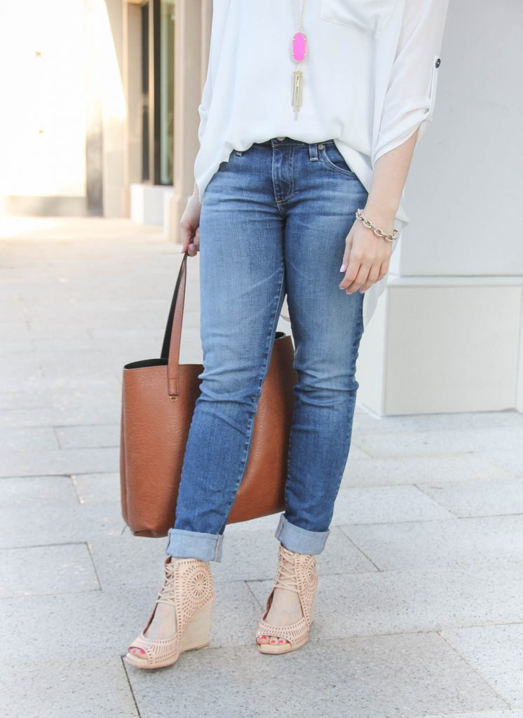 AG Skinny Jeans | Jeffrey Campbell Wedges | Summer Outfit | Lady in Violet | Houston Style Blogger