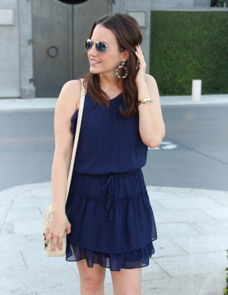 Cute dress for summer | Baublebar Stone Earrings | Lady in Violet | Houston Style Blogger