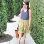 Yellow Ruffle Skirt for the Office