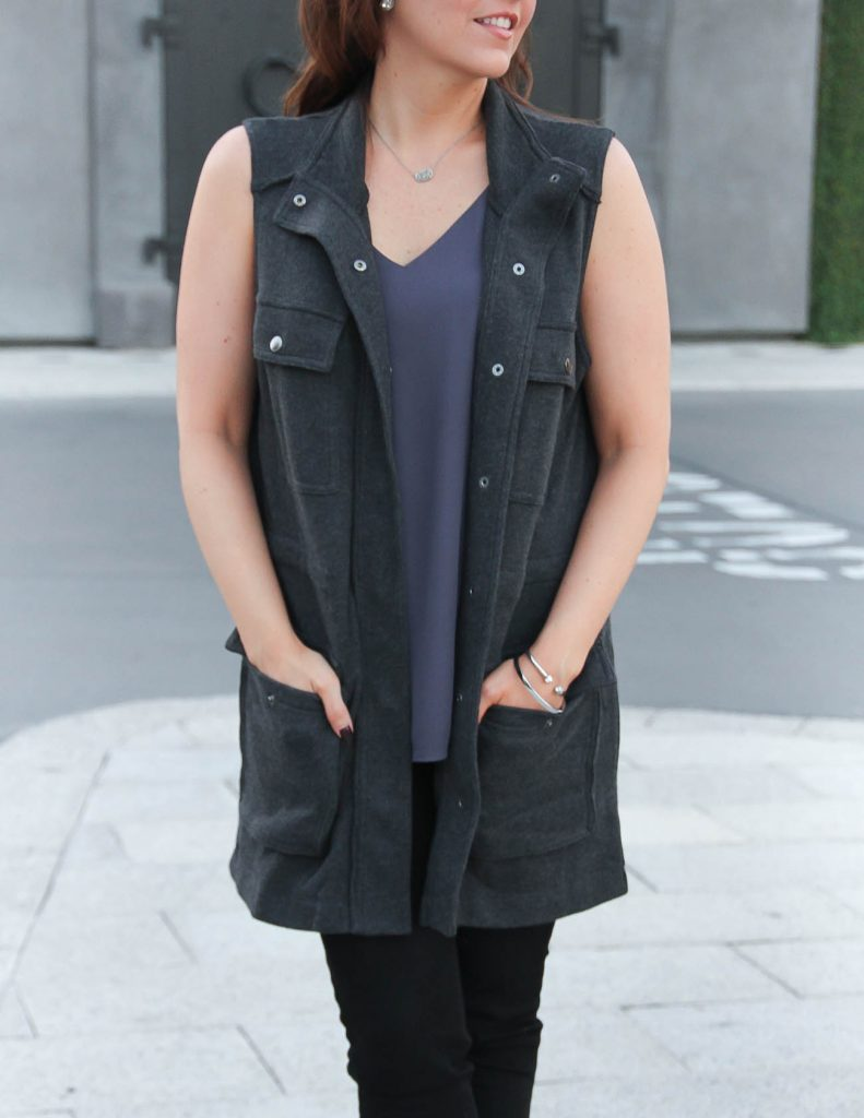 Nordstrom Anniversary Sale   Gray Utility Vest   Lady in Violet   Houston Style Blogger