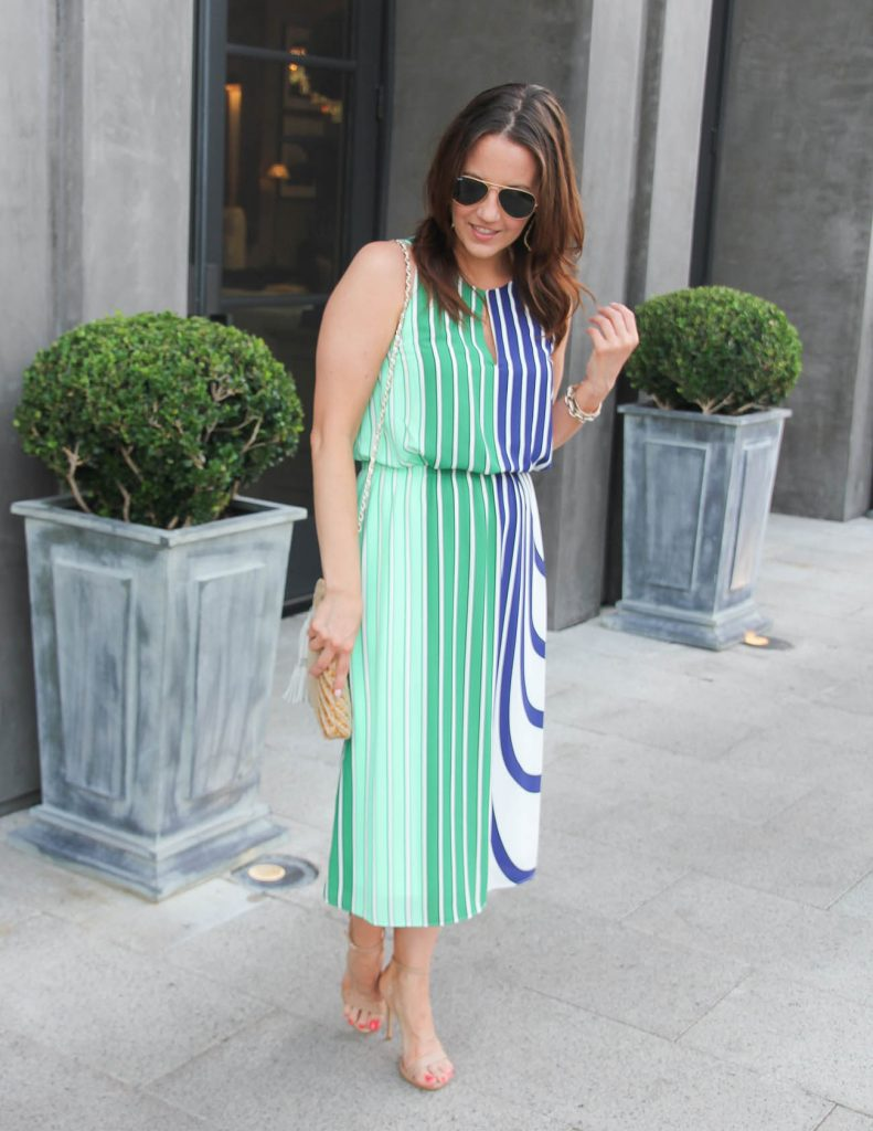 Summer Work Outfit | Striped Midi Dress | Lady in Violet | Houston Style Blogger