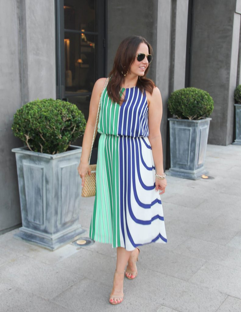Summer Outfit | Striped Midi Dress | Work Wear | Lady in Violet | Houston Fashion Blogger