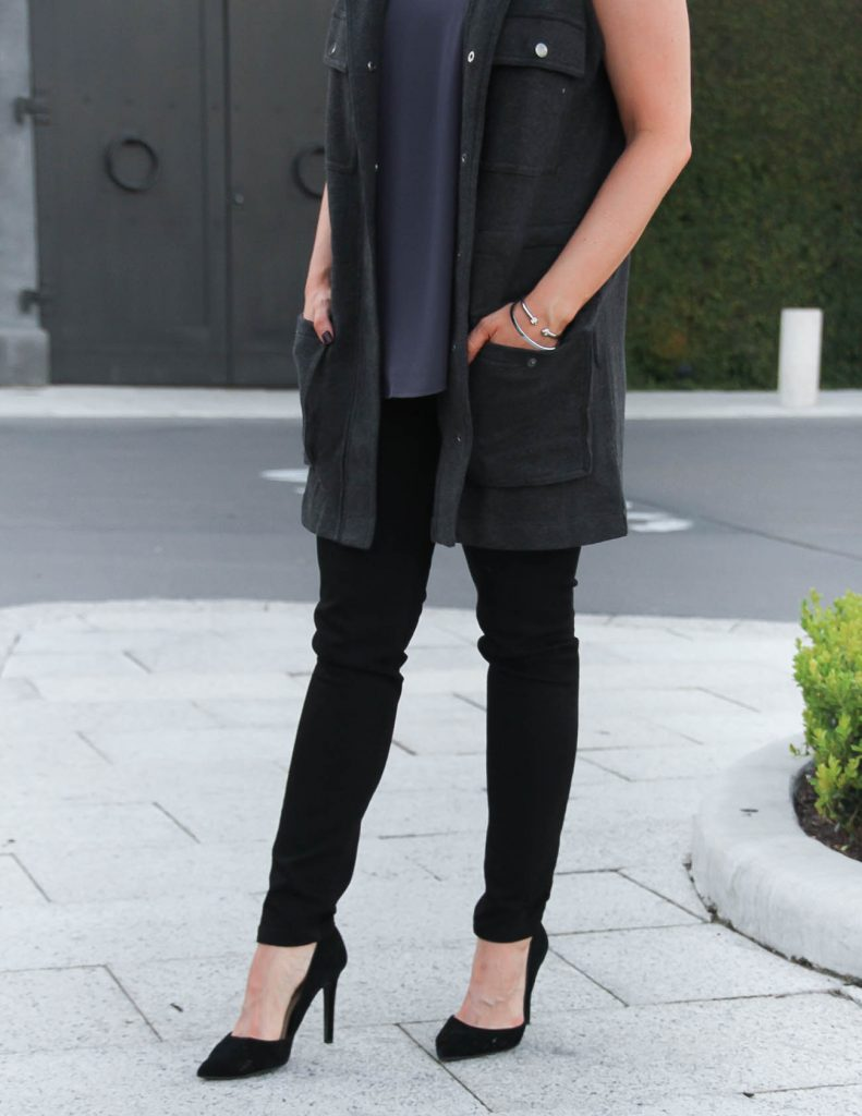 Casual Outfit   Black Skinny Jeans   Black Heels   Lady in Violet   Houston Fashion Blogger