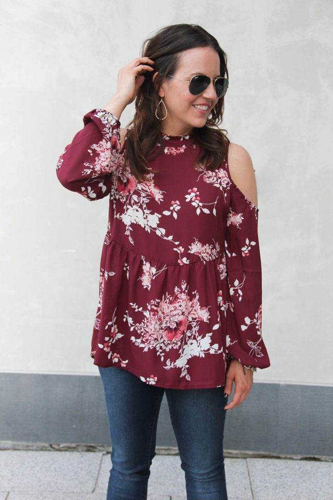 Fall Outfit | Nordstrom Anniversary Sale Favorite Top under $50 | Lady in Violet | Houston Fashion Blogger