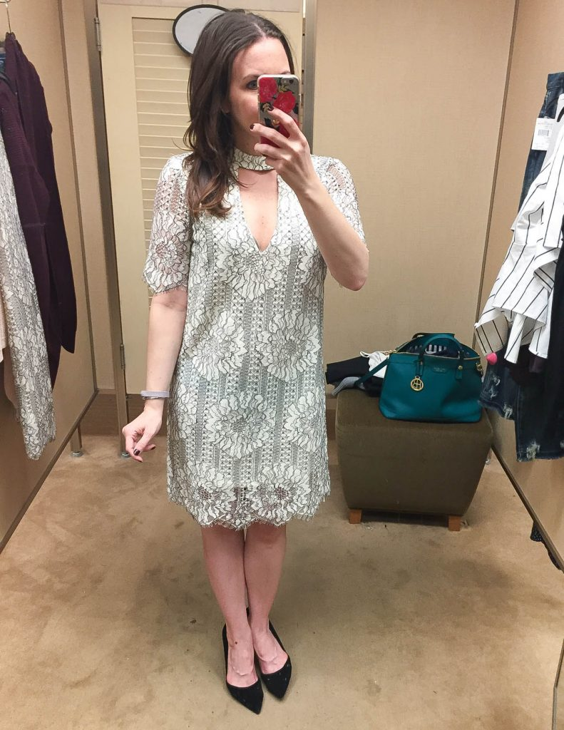 Cocktail Holiday Dress | White Lace Shift Dress | Nordstrom Anniversary Sale
