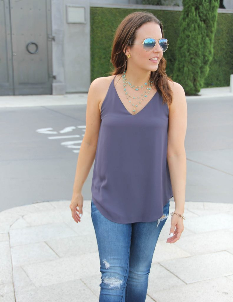 Summer Outfit | Boho Chic | Turquoise Y Choker Necklace | Lady in Violet | Houston Fashion Blogger