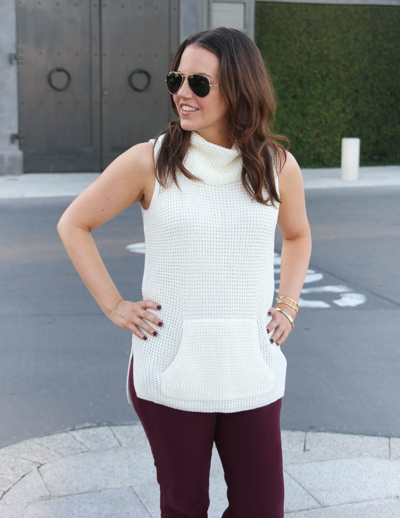Summer Work Wear | Nordstrom Anniversary Sale | Sleeveless Sweater | Lady in Violet | Houston Fashion Blogger