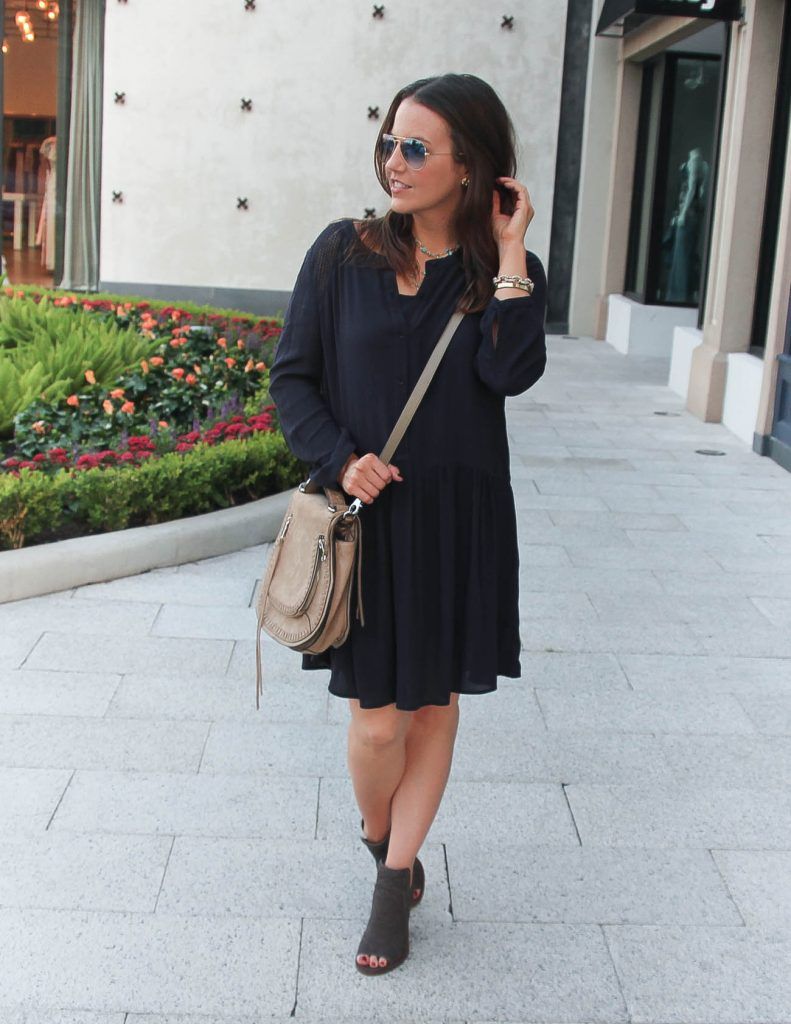 Fall Outfit | Casual Navy Dress | Houston Fashion Blogger