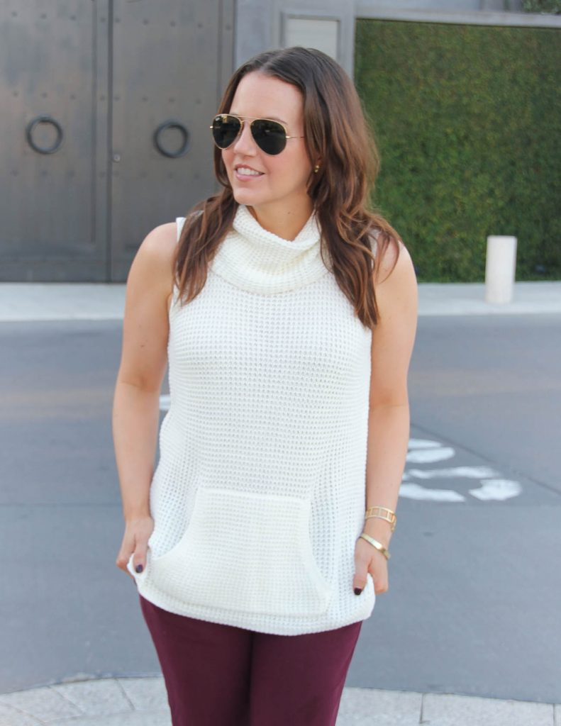 Fall Office Outfit | Ivory Turtleneck Sweater | NSale Pick | Lady in Violet | Houston Fashion Blogger