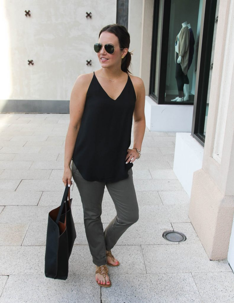 Summer Outfit | Black Cami | Olive Pants | Lady in Violet | Houston Fashion Blog