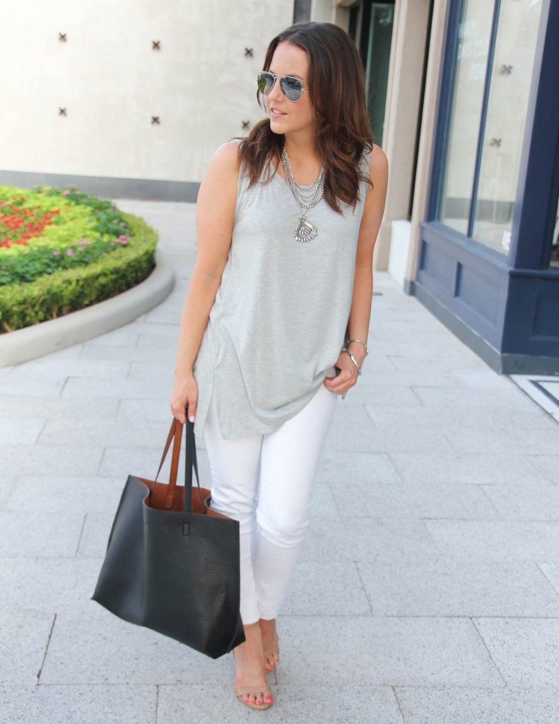 Summer Outfit | Gray and White Outfit | Lady in Violet | Houston Fashion Blogger