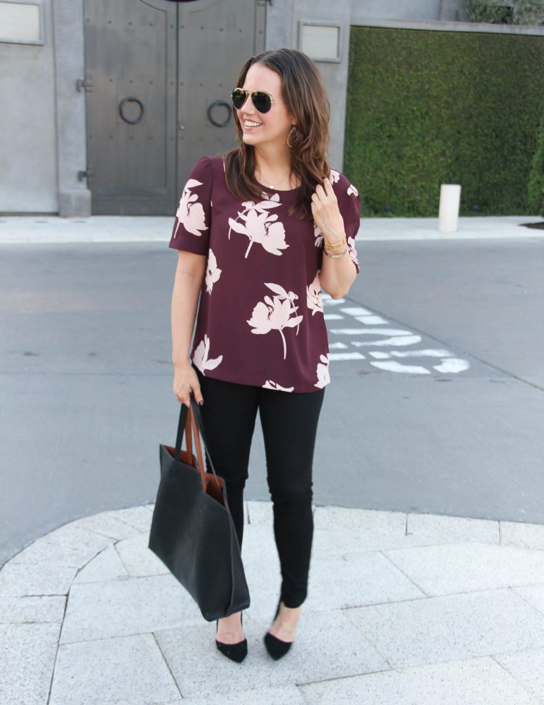 Fall Outfit | Work Wear | Black Jeans | Lady in Violet | Houston Fashion Blogger