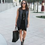 Gray Utility Vest + The It Dress of Fall