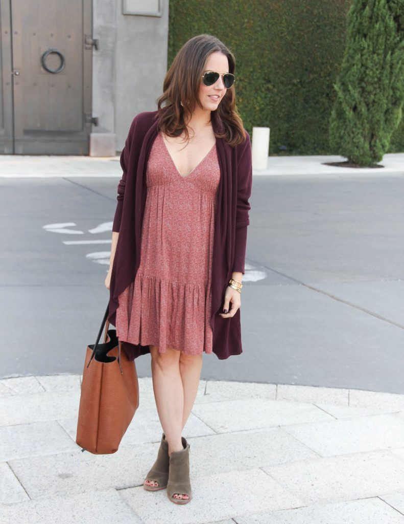 how to transition summer dresses into fall | Lady in Violet Fashion Blog