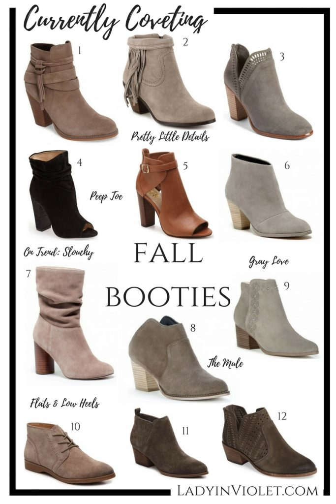 Best Fall Booties 2017 | Ankle Boots | Peep Toe Booties | Fall Boots | Lady in Violet | Houston Fashion Blogger