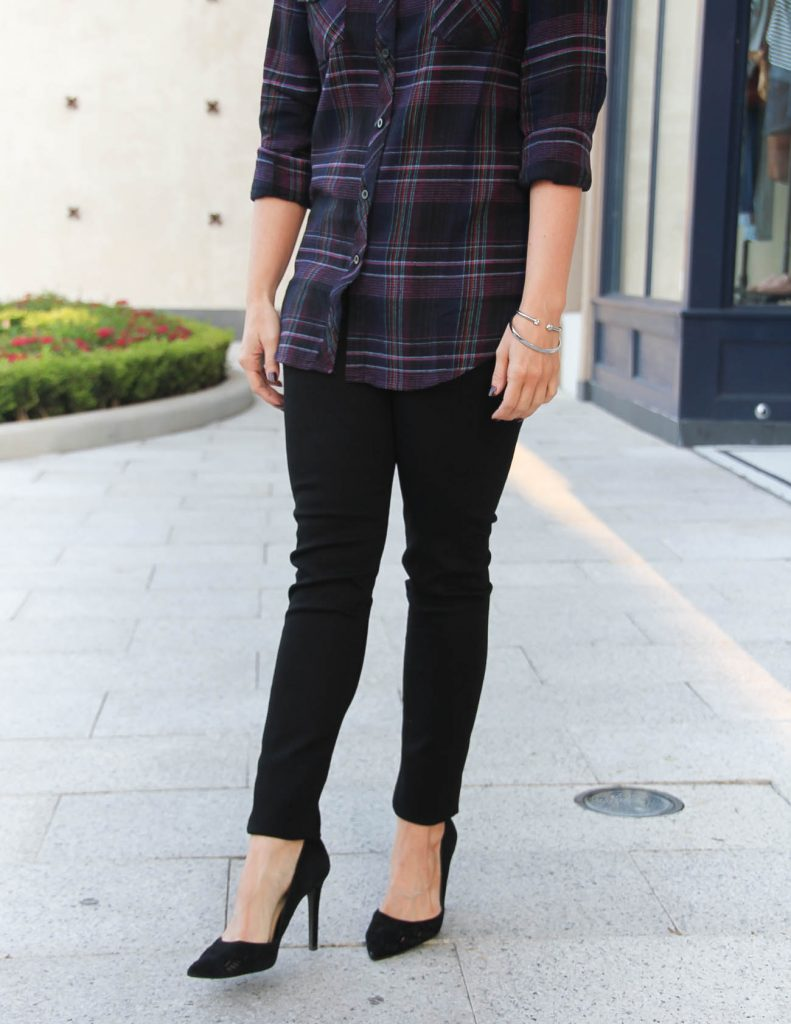 Fall Outfit Idea | Black Hudson Skinny Jeans | d'Orsay Heels | Lady in Violet | Houston Fashion Blogger