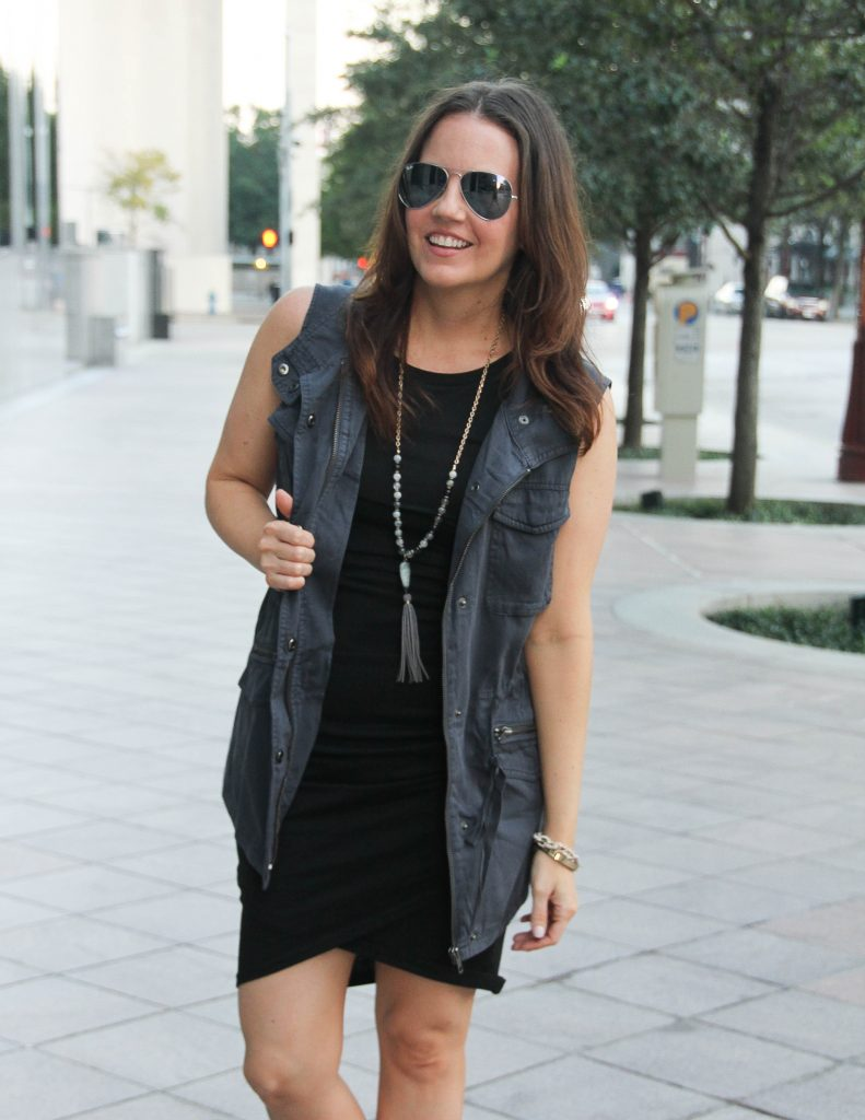Casual Outfit | It Dress of Fall | Gray Vest | Lady in Violet Fashion Blog