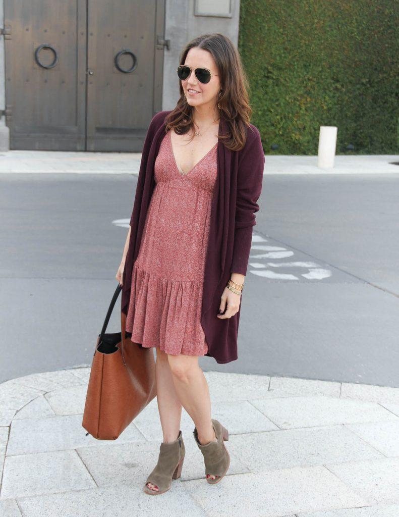 How to Transition Summer Dresses into Fall | Lady in Violet | Houston Fashion Blogger
