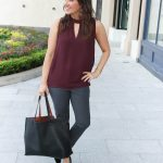 Gray Work Pants + Perfect Layering Top