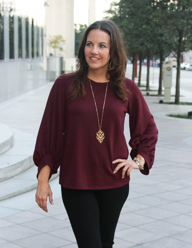 Perfect Holiday Sweater with dramatic Sleeves | Lady in Violet | Houston Fashion Blogger