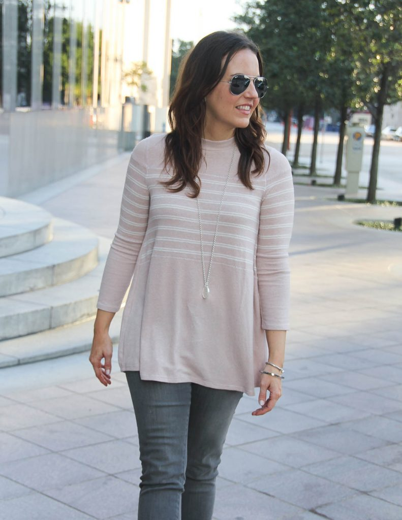 Winter Outfit | A-Line Sweater | Coin Pendant Necklace | Houston Fashion Blogger Lady in Violet