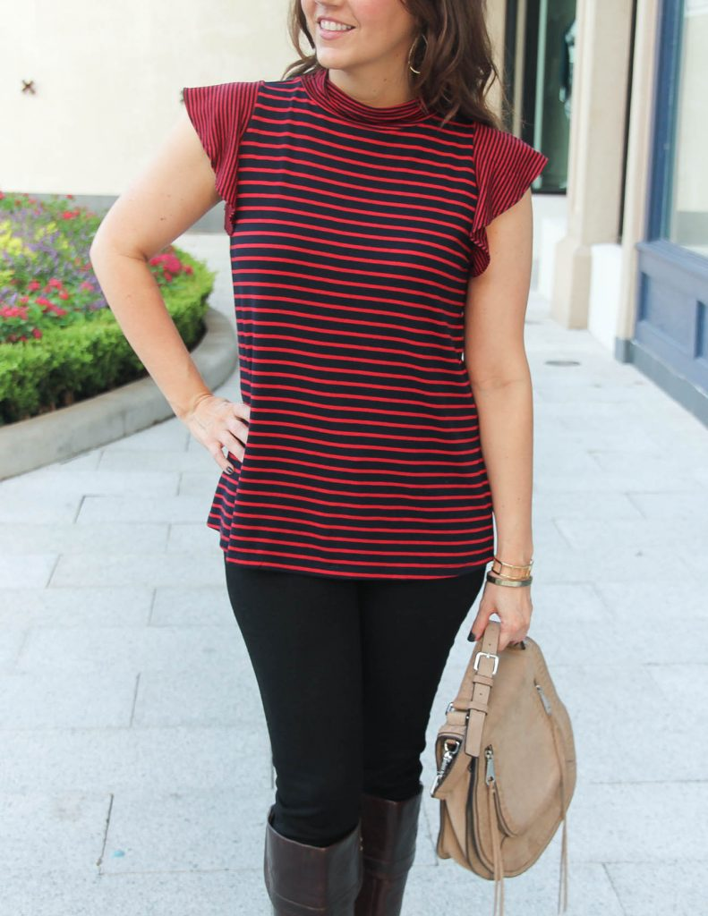 Cute Fall Top for Warm Weather | Rebecca Minkoff Bag | Houston Fashion Blogger Lady in Violet