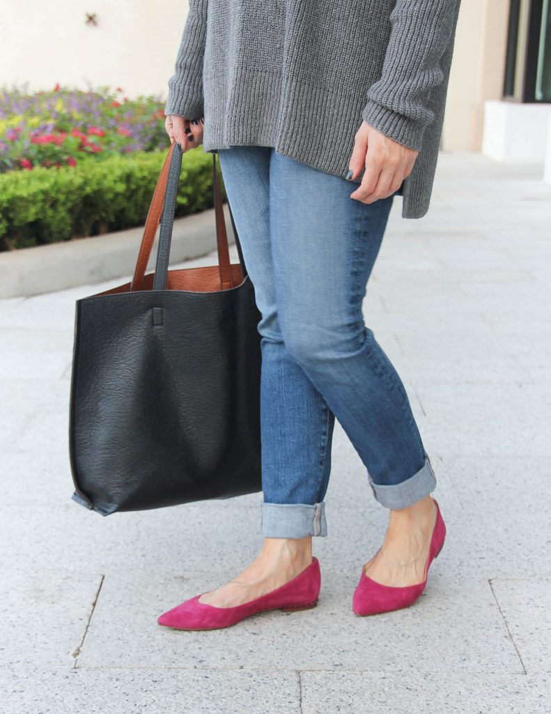Fall Outfit | Ag jeans | Pink Flats | Lady in Violet Fashion Blog