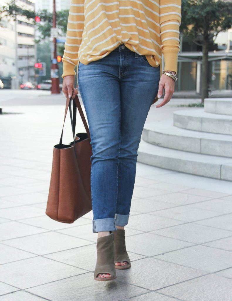 Fall Outfit | AG Skinny Jeans | Vince Camuto Booties | Lady in Violet Fashion Blog