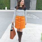How to Style a Corduroy Skirt & Link Up