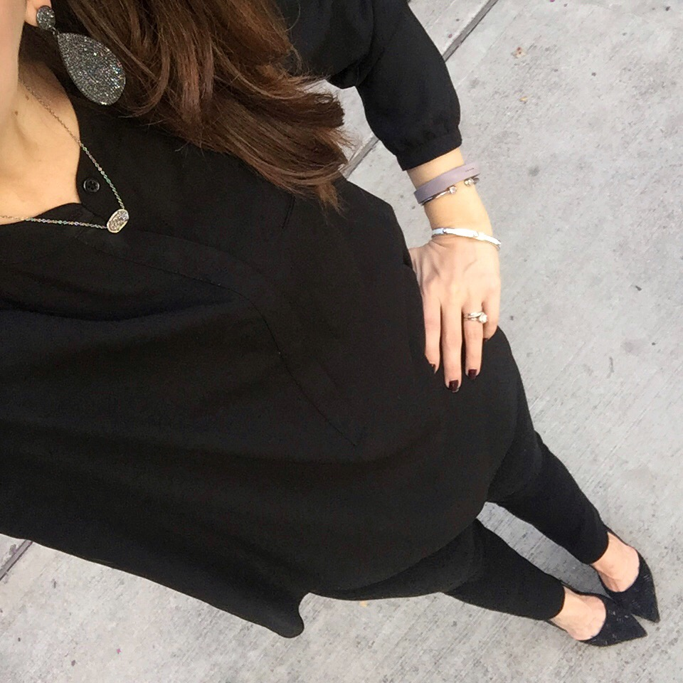 Fall Fashion | All Black Outfit | Houston Fashion Blogger Lady in Violet