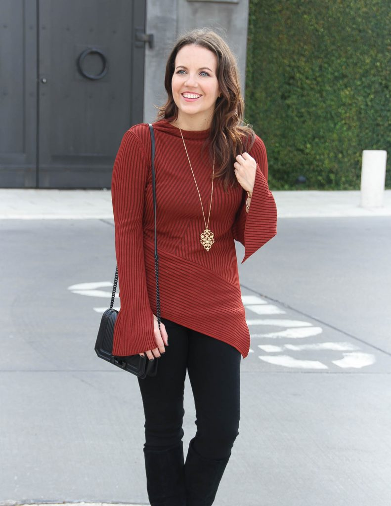 Asymmetrical Sweater | Lady in Violet | Houston Fashion Blogger ...
