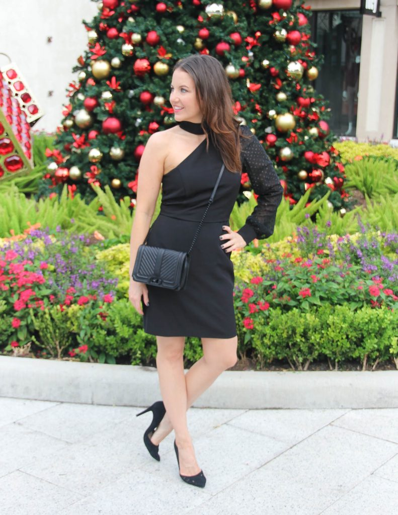 Little Black Holiday Dress for Christmas Party | Houston Fashion Blogger Lady in Violet
