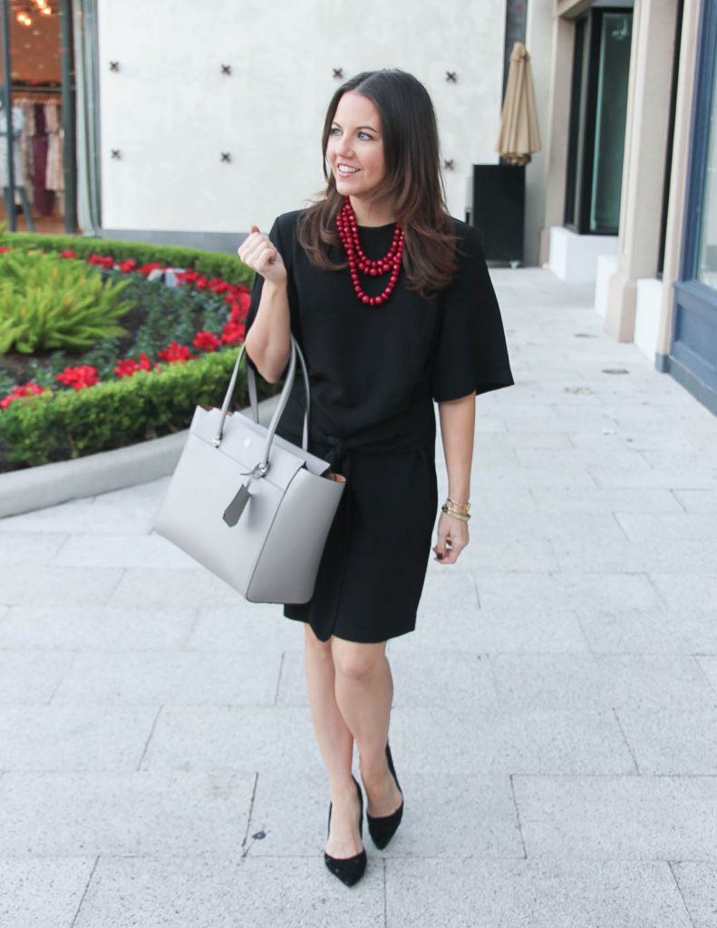 Work Outfit | Black Shift Dress | Black Comfy Heels | Houston Fashion Blogger Lady in Violet