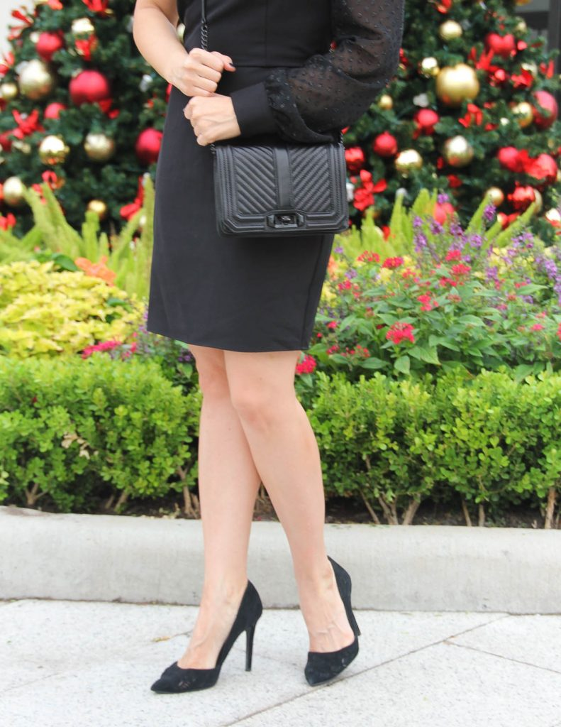 All Black Holiday Party Outfit   Rebecca Minkoff Love Bag   Houston Fashion Blogger Lady in Violet